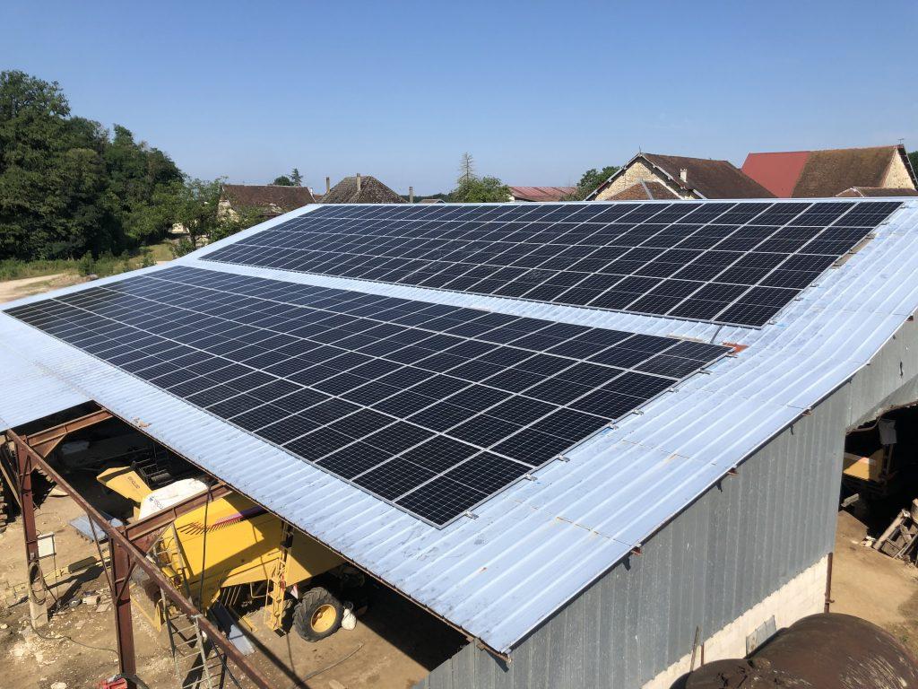 energies services france installation photovoltaique batiment agricole aube revente edf dualsun sma panneaux solaires